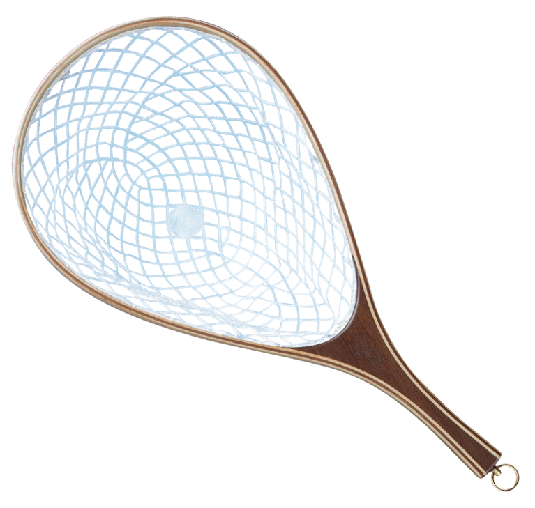 Oval fly fishing nets for sale blue ribbon nets for Fishing net for sale